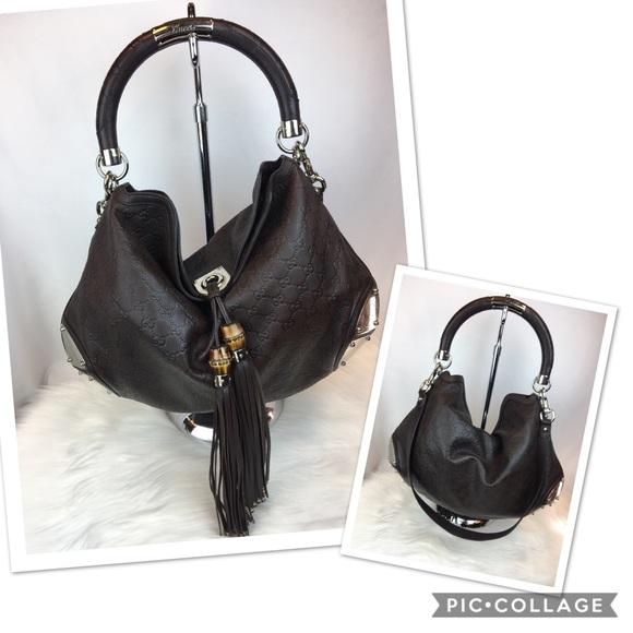 d0e20925fe Gucci Handbags - Gucci Baboska Indy Boho leather Bag with tassel